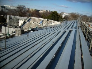 Custom bleachers engineered to spec.