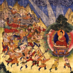 Buddha and Mara's armies