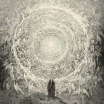 Dante and Beatrice gaze upon the highest heavens