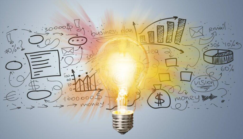 Marketing, lightbulb, element.