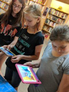 STEM Girls Playing Educational game