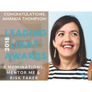 Leading Light Award Nomination for Mentor and Risk Taker