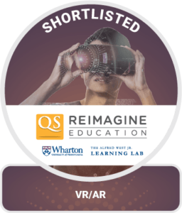 Reimagine Eduction VR and AR Award Shorlisted