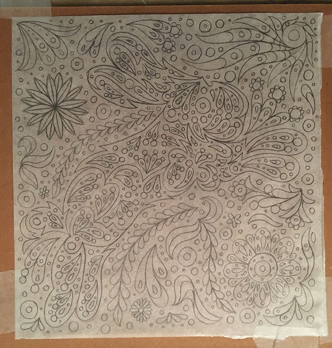 Rabbit and Stars Line Drawing
