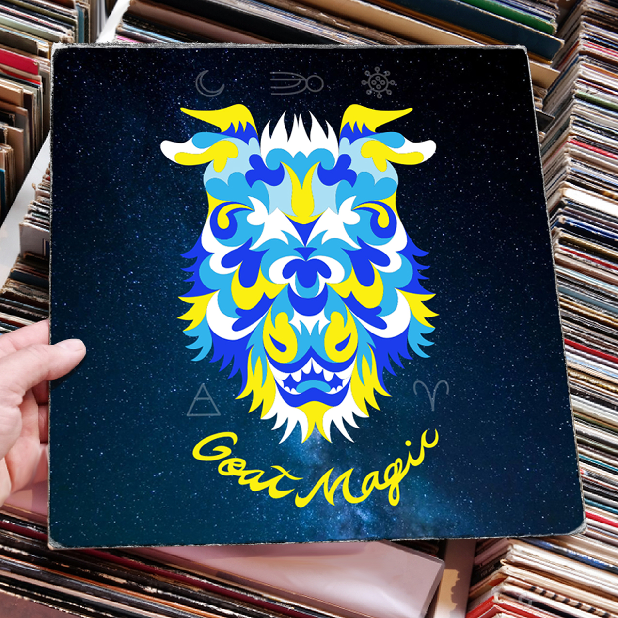 Goat Magic Record Cover Design
