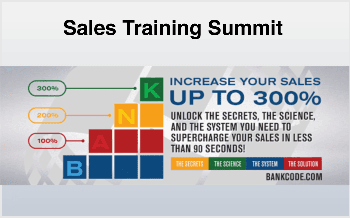 Sales Summit Training
