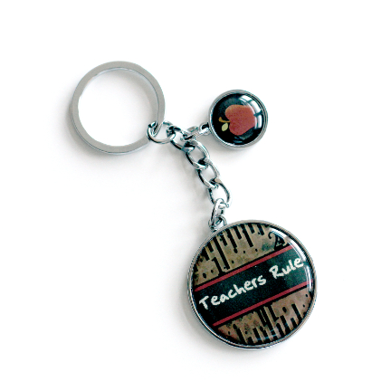 Double Circle Keychain