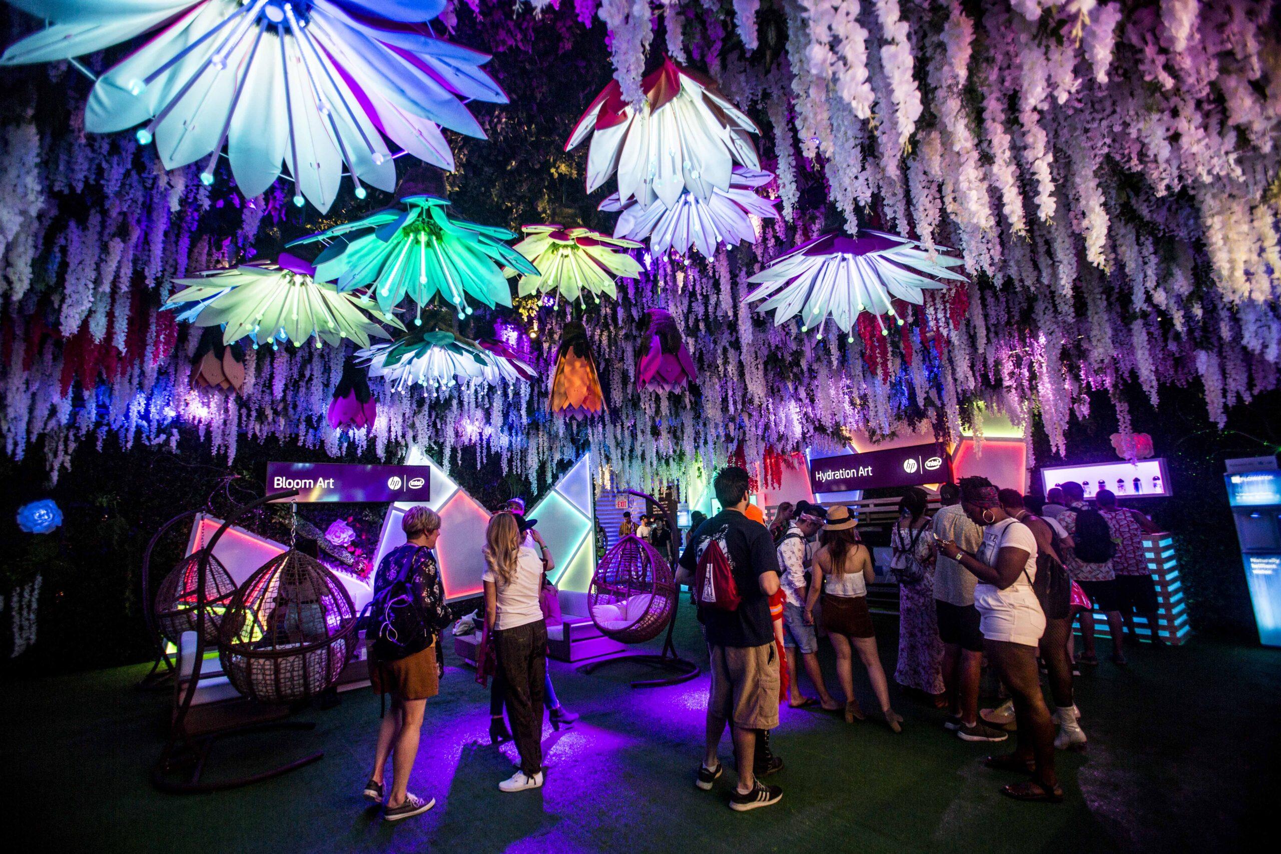 HP Digital Eden at Coachella 2018