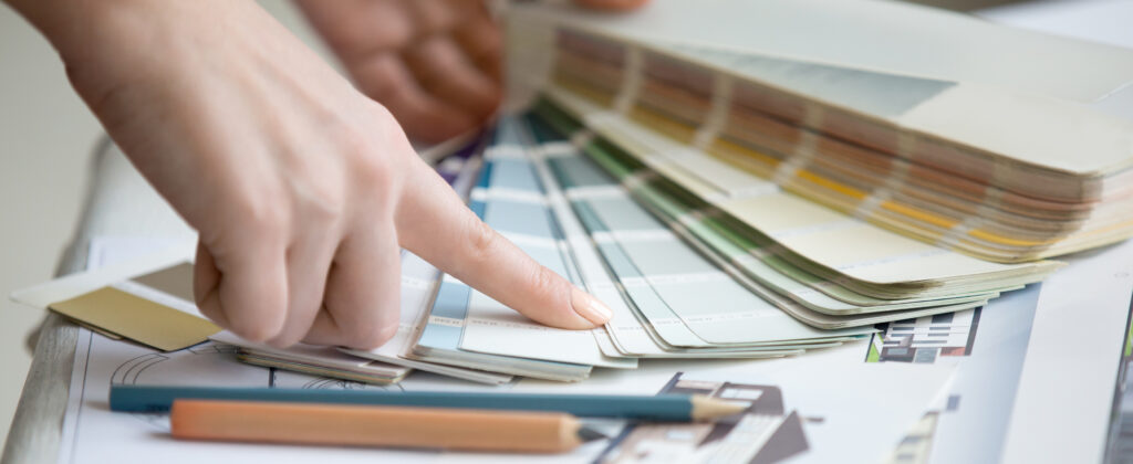 Looking through paint swatches
