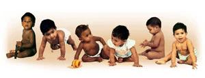 diverse set of babies