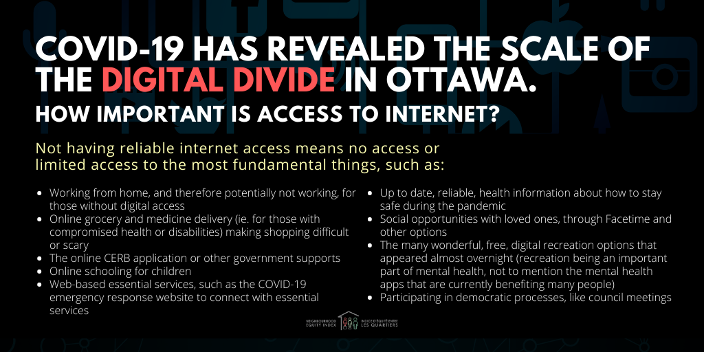 Covid-19 has revealed the scale of the digital divide