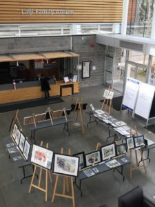 students painting exhibition march 14 2018