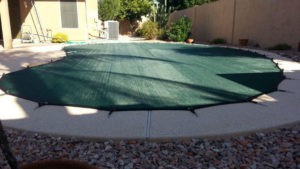 Green pool cover