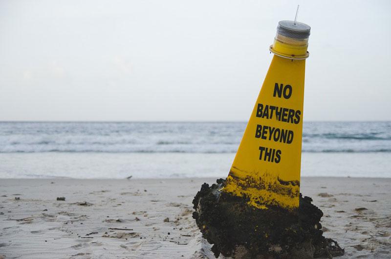 beach buoy water sea ocean