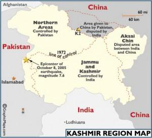 map of kashmir