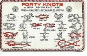 forty boy scout knots