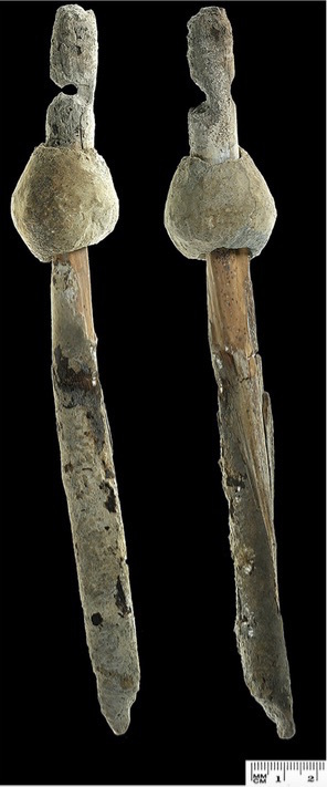 two views of 4000 BC Spindle
