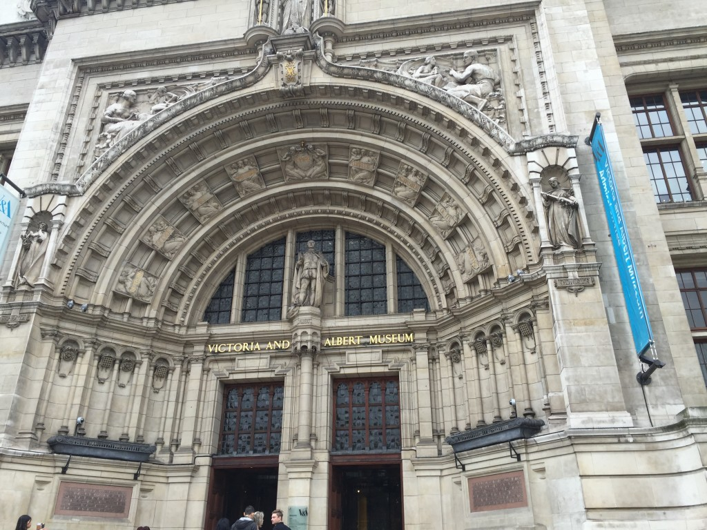 main entrance Victoria and Albert Museum in London