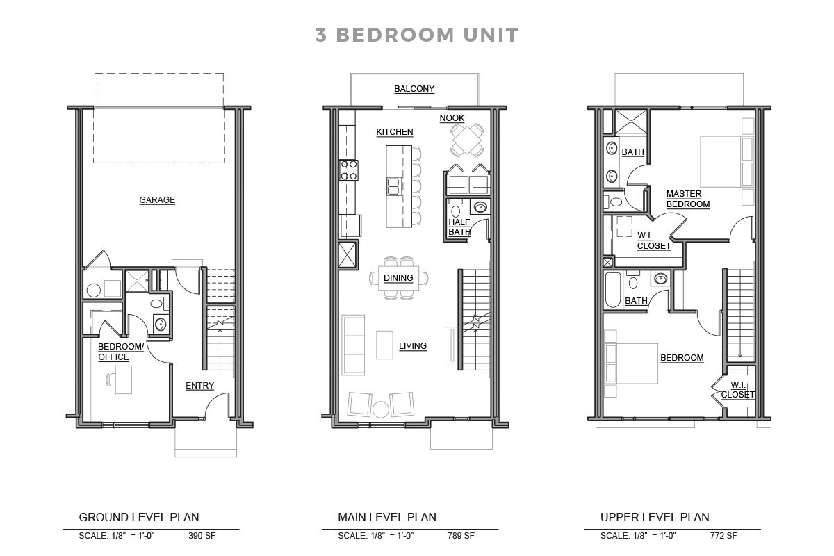 Three Bedroom Unit Floorplan