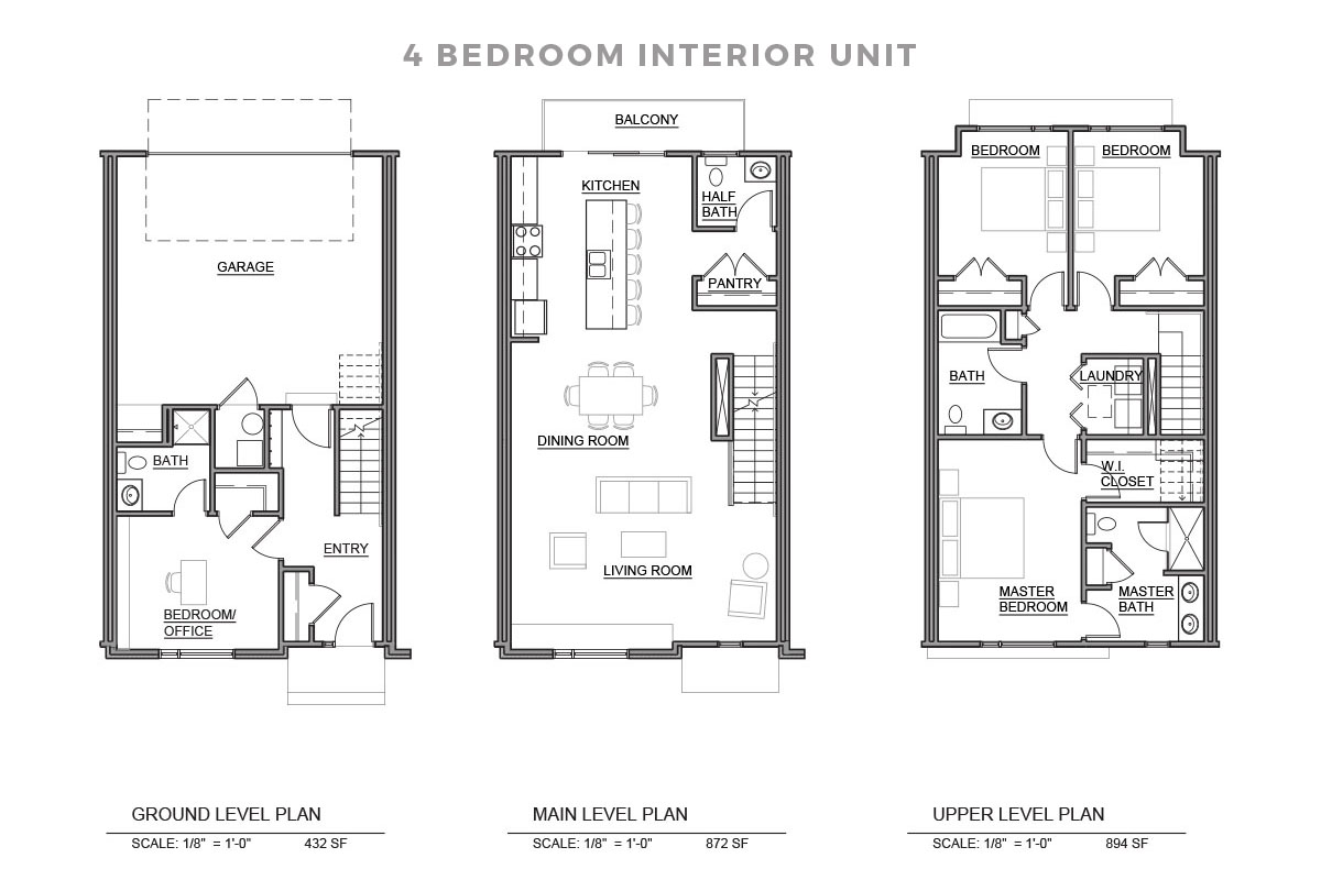 Four Bedroom Unit Floorplan