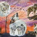 Wolf Park 35th Anniversary Auction Painting