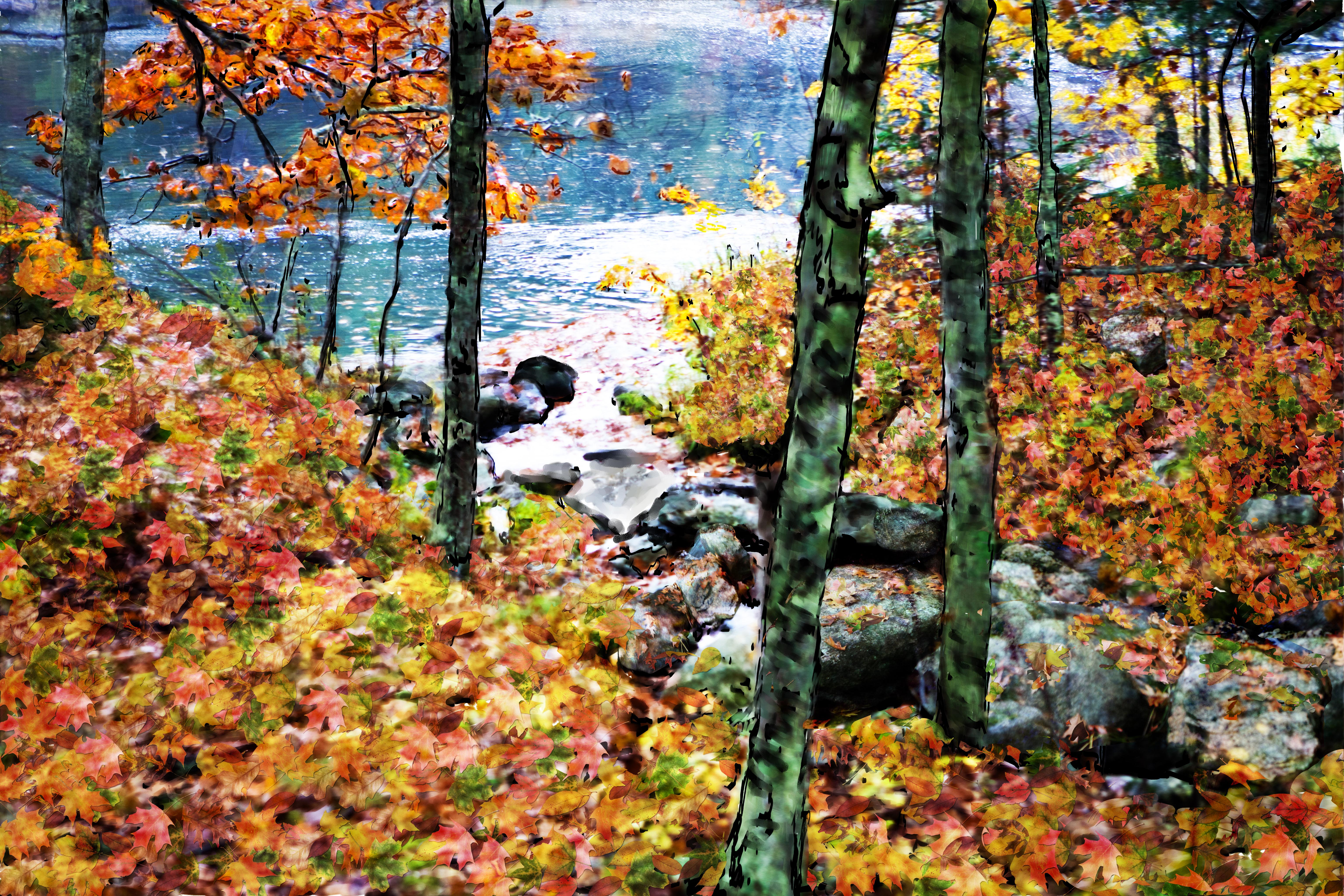 Pumpkins, Fall Colors & Golden Retrievers