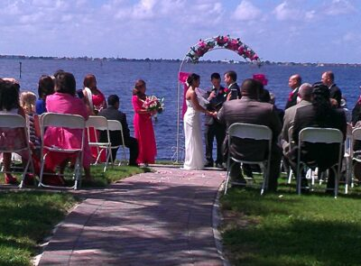 wedding, ceremony, white orchid, ft myers fl