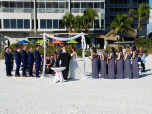 beach wedding, Ft Myers FL