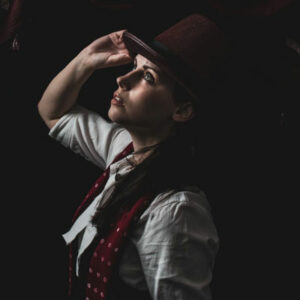 Genderbent Phillip Carlyle Cosplay from The Greatest Showman