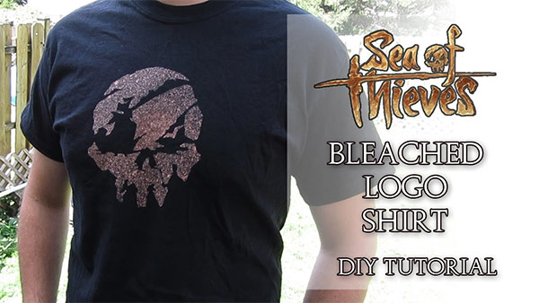 Bleached Skull Design Shirt – Sea of Thieves DIY