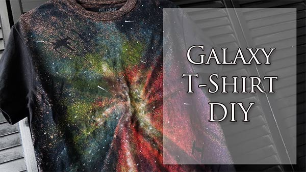Galaxy Shirt DIY | with bleach and fabric paints