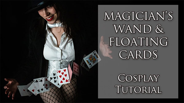 Magician's Wand & Floating Cards Props | Zatanna Zatara Cosplay