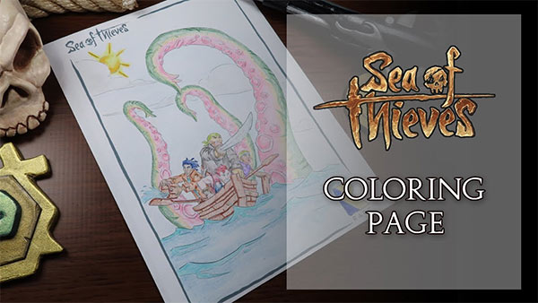 Sea of Thieves Coloring Book Page