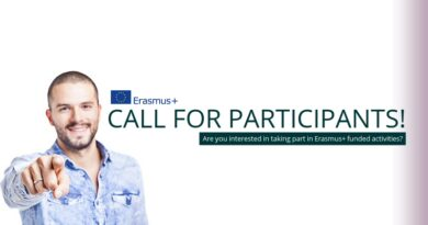 "Call For Participants – Erasmus+ ""The Change Starts With Us"" 2nd – 8th June 2019 (Romania)"