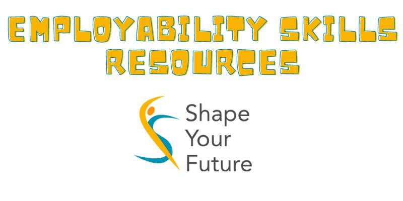 employability skills resources yellow text