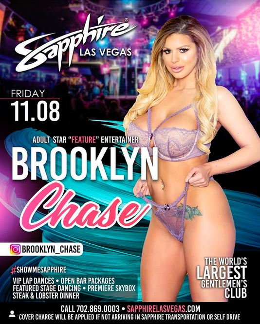 Brooklyn Chase Returns to Sin City to Headline at World Famous Sapphire Las Vegas