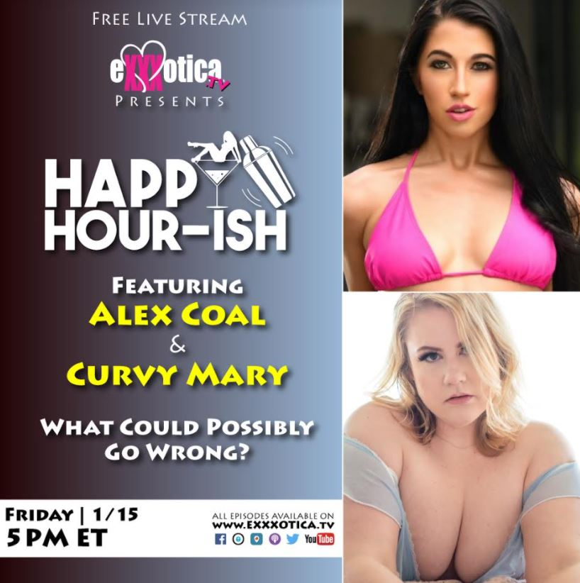 BBW Star Curvy Mary to be Host Exxxotica-TV's Happy Hour-ish  With Alex Coal Today at 5pm ET