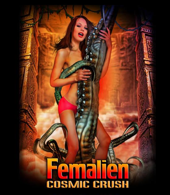 Femalien: Cosmic Crush Star Jillian Janson Featured On Film's T-Shirt
