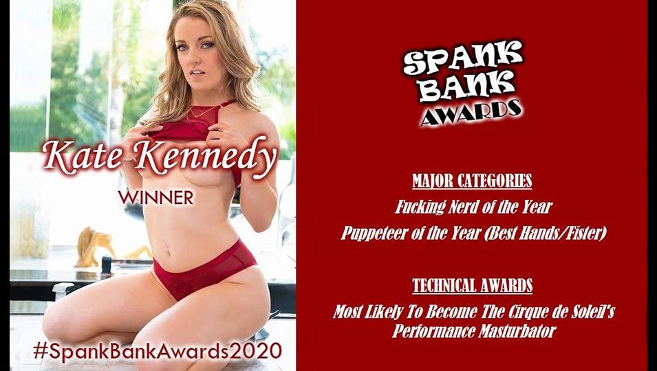 Kate Kennedy Wins Three IAFD Spank Bank Awards