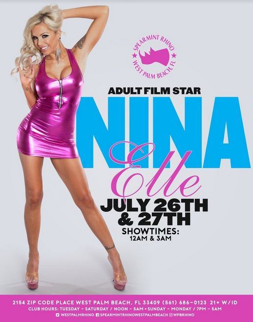 Nina Elle Feature Dancing At Spearmint Rhino in West Palm Beach