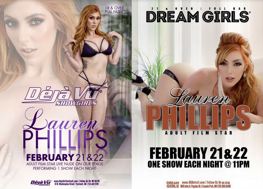 Michigan Is in for a Treat with Lauren Phillips Headlining at 2 Gentlemen's Clubs