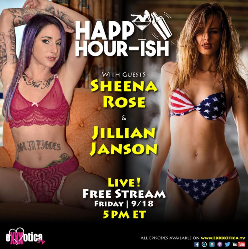 Sheena Rose Guesting on EXXXOTICA.tv's Happy Hour-ish Tomorrow