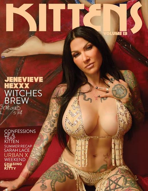 Jenevieve Hexxx on the Cover of Kittens Magazine