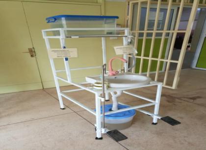 UNTH fabricates mechanical handwashing station
