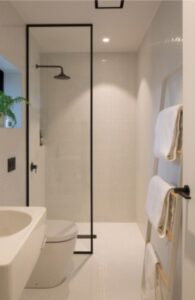 minimalism is a savior of bathroom clutter