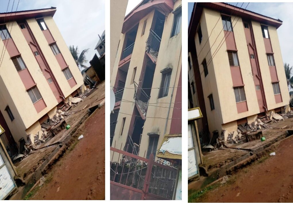 sinking 3-storey maryland building