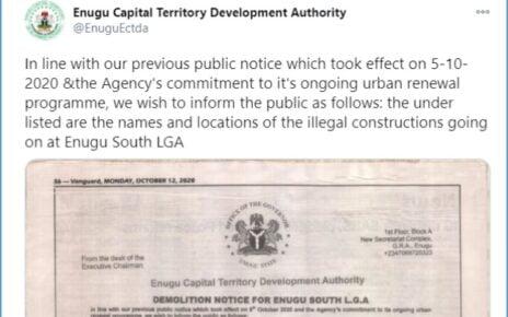 ECTDA demolish notice