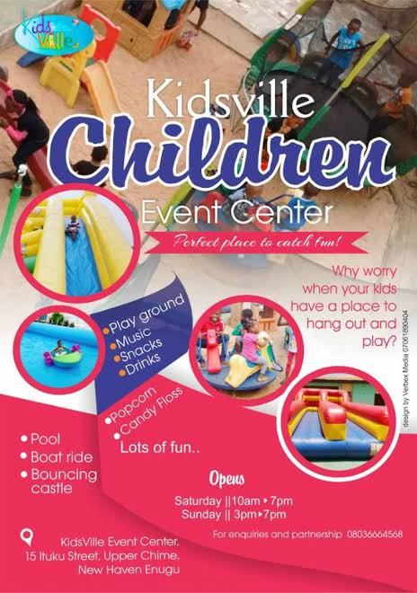 Kidsville events Centre Enugu