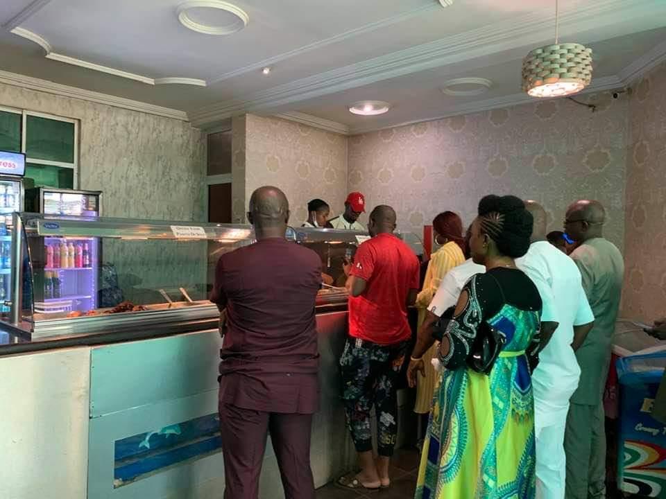 Service at dolphin Restaurant Enugu