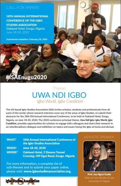 The Igbo Studies Association (ISA)